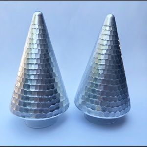 Silver Glass Figural Christmas Trees